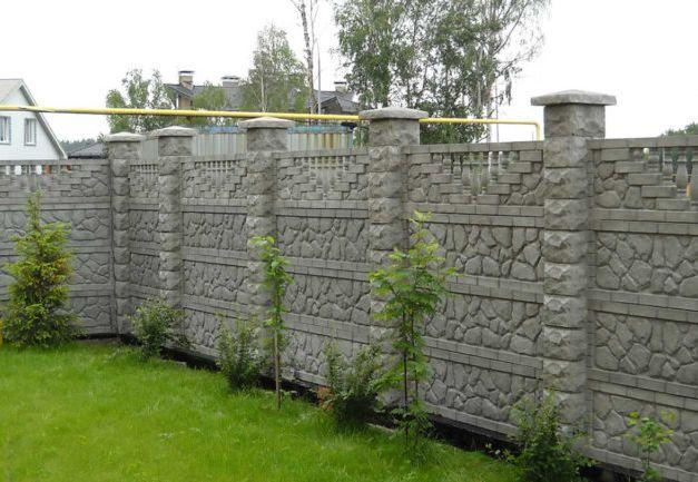 Забор из бетона: строим самостоятельно, изображение №2