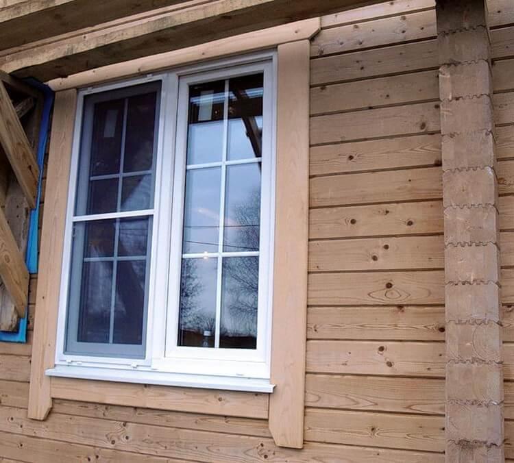 Пластиковые окна для деревянных коттеджей, изображение №5
